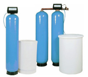 Different types of top water softeners.